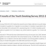 Summary of results of the Youth Smoking Survey 2012-2013