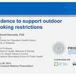 Evidence to support outdoor smoking restrictions